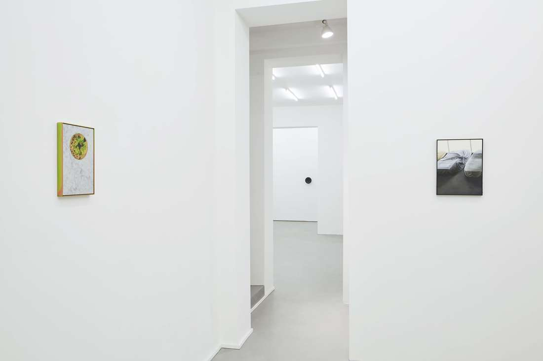 Installation view of works by Devin Farrand and James Webb at Gallery Vacancy.