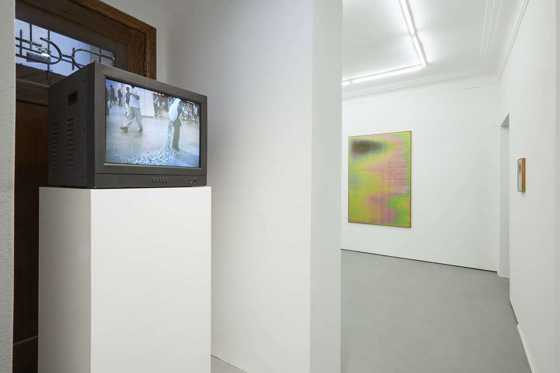Installation view of works by Taro Izumi and Devin Farrand at Gallery Vacancy.