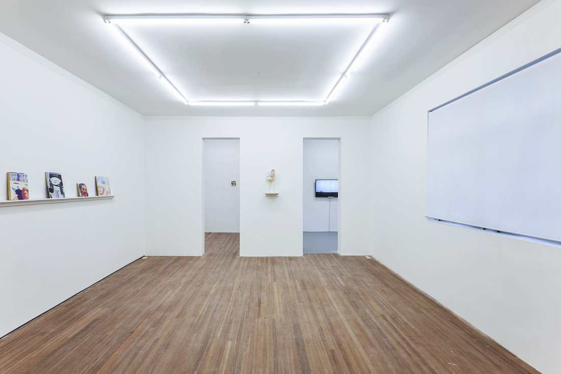 Installation view of works by Huang Kaiyu and Liu Yazhou at Gallery Vacancy.
