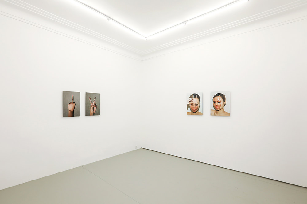 "Installation view of John Yuyi's solo exhibition titled ""John Yuyi: JOHN YUYI"" at Gallery Vacancy."
