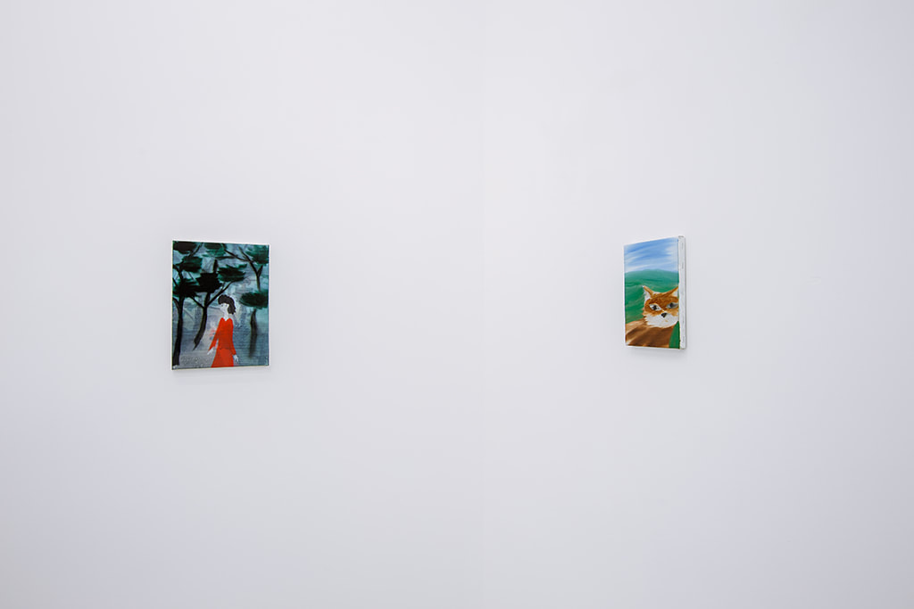 Installation view of Yu Nishimura's paintings at Gallery Vacancy.