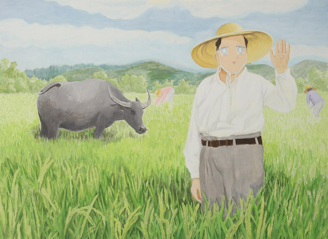 Liu Yin, Rice Field, 2019