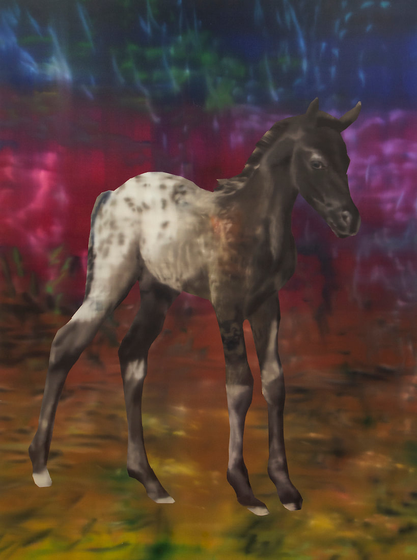 Rute Merk, ​Appaloosa, 2019, oil on canvas, 195 x 145 cm (76 3/4 x 57 1/8 in)