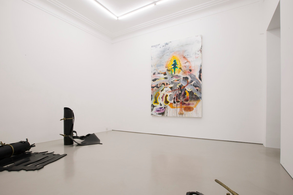Gallery Vacancy installation view of Xu Qu and Qiu Xiaofei's works in exhibition