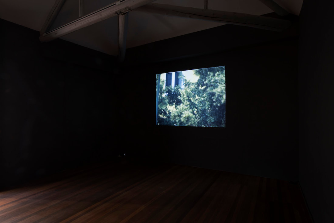 Gallery Vacancy installation view of Ceal Floyer's film in exhibition